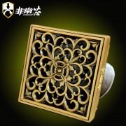 青铜拉丝(菊花方形) QTF100-F2